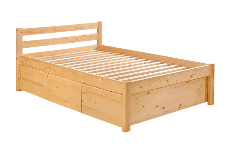 Wooden Bed Sea Horse Mattress Household Products